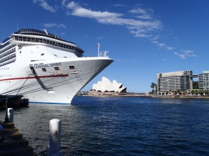 The Carnival Spirit Docked @ The Harbour with The Opera House In The Background
