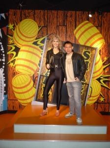 With Olivia Newton-John