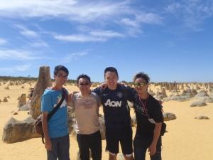 At The Pinnacles - From left: Bryan Sr., Myself, Jin Yang, Edwin