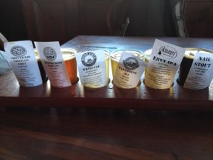 Beer Tasting Paddle From The Monk Brewery & Kitchen
