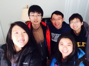 Before they left for New Jersey - Clockwise from top right: Leon, Jia-Min, Germaine, Bryan and myself