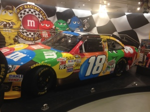 A M&M's featured NASCAR on display at M&M's World