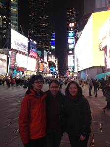 At Times Square with Bryan and Germaine
