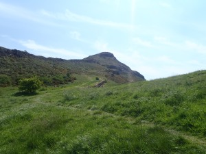 Climbing to the peak of Arthur's Seat