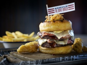 Red's True Barbeque's Signature Donut Burger