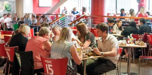 The dining sets at Red Café features current players as well as red legends - Photo Credits: Manchester United