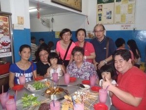 With the extended family at Ban Lee Siang