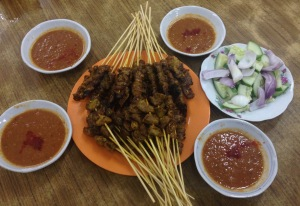 Delicious Satay accompanied with the addictive pineapple satay sauce