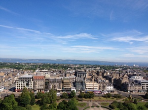 View of Edinburgh from Edinburgh Castle