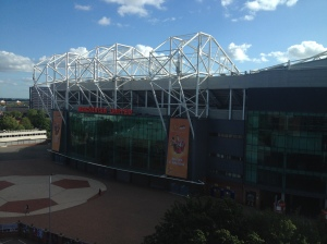 The view of Old Trafford from my room