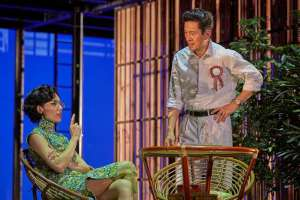 Sharon Au as Madam Kwa and Adrian Pang as Mr Lee in The LKY Musical