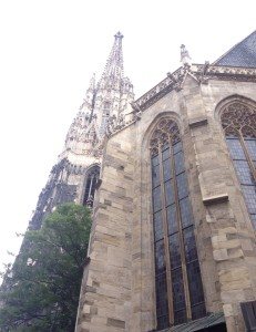 I couldn't get nice pictures of St. Stephen's Cathedral as they were doing restoration works to the exterior of the building