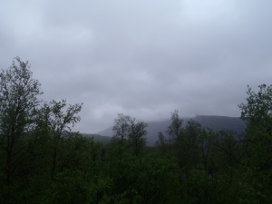 Grey skies greeted me in Kiruna