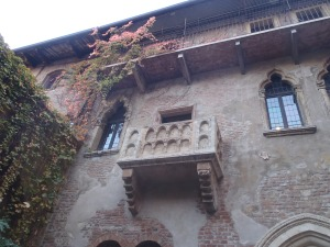 Juliet's Balcony in Verona, Italy