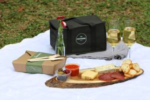 Picnic Basket by Official Partner Providore - I did pretty well myself, making smoked salmon canapé, german sausages and a bottle of Malbec for me and my date