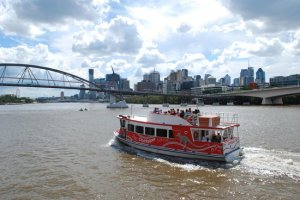 One of Brisbane's CityHopper ferries