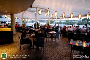 Jade Buddha offers a stunning view of the Brisbane River