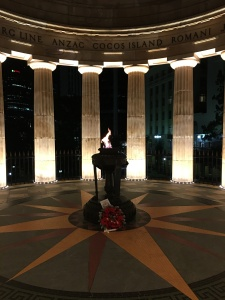 The Shrine of Remembrance, ANZAC Square, which is located around Queen, Ann and Adelaide Street